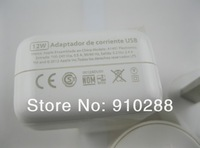 High Quality  OEM 12W 2.4A USB Wall Charger For ipad 4/ipad mini/iPhone 5 5g 5th Free shipping