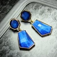 Sweet multicolour gem pendant earrings