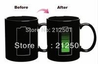Animated Battery Coffee Mug / Battery Morph Mug / Battery Color Changing Mug