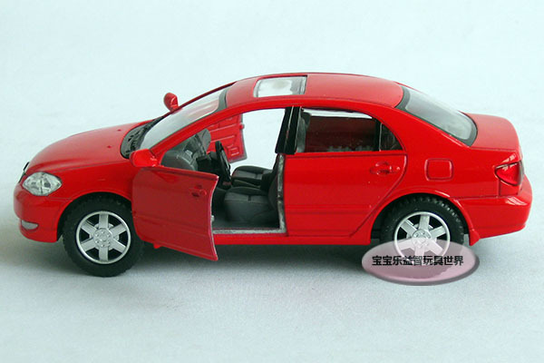 New 1:36 Toyota Corolla Alloy Diecast Model Car Red Toy Collecion B198d