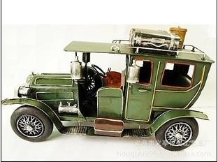 1912 Rolls-Royce Car Model 32cm Home decoration Hand-made Iron Green car model