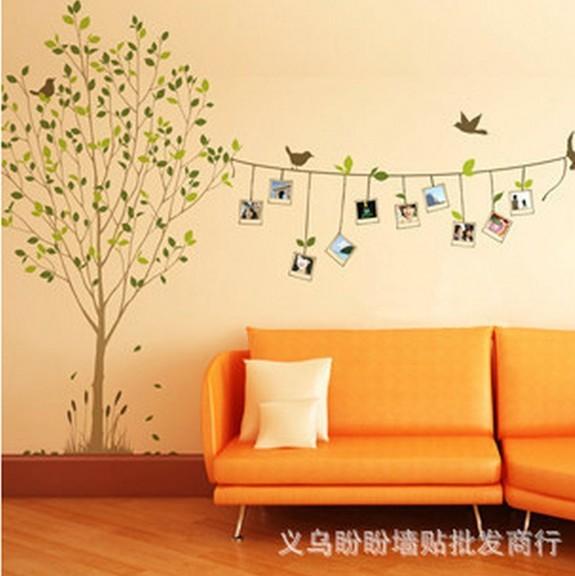Natuurlijke slaapkamer : woonkamer slaapkamer muur sticker fotocollage ...