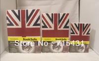 HOT The simulation Union Jack&novel safe Creative piggy bank mini book safe box,Secret book,3 sizes,Free shipping