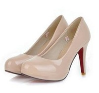 Free shipping high heel shoes casual  fashion dress patent  lady pumps dress women sexy P2862 size 32-43