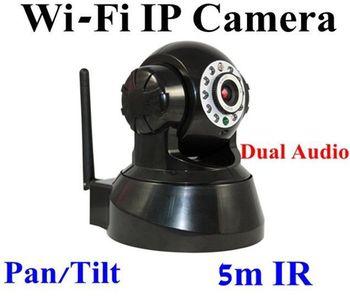 Wireless wifi CCTV IP Surveillance Pan/Tilt Camera Dual Audio IR Night Vision Speed Webcam FREE SHIPPING china post