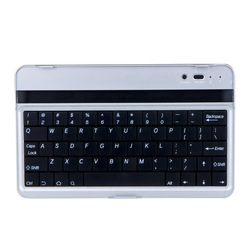 Free shipping Mobile Wireless Bluetooth 3.0 Aluminum Keyboard Stand Cover Case For Google Asus Nexus 7 With Retail Box(China (Mainland))