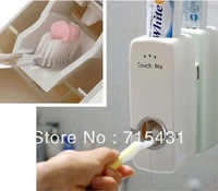 Free shipping! Touch Me new innovative Automatic Toothpaste Dispenser , Toothbrush Holder family set 2 in 1, Red & White