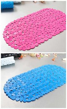 Bathroom pebble PVC non-slip mat bath mat pad suction cup non-slip mat Free shipping Random Color