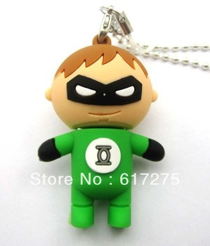 Green cartoon USB storage U disk fashion store tools many capacity selection