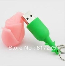 Cartoon design pink rose witness great love USB 2. 0 U disk good gifts(China (Mainland))