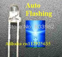 (CE&Rosh)Blue 3mm led 1.5KHz 3.0-3.5V IC Automatic flashing LED Diode