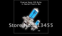 Freeshipping Wholesale White New H4 12V 100w Xenon Car HeadLight Bulb HID Halogen light Kit