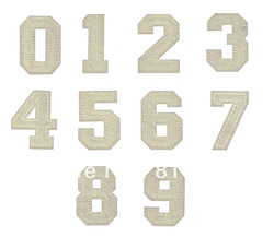 embroidered iron on felt number patch-20pcs/lot(China (Mainland))