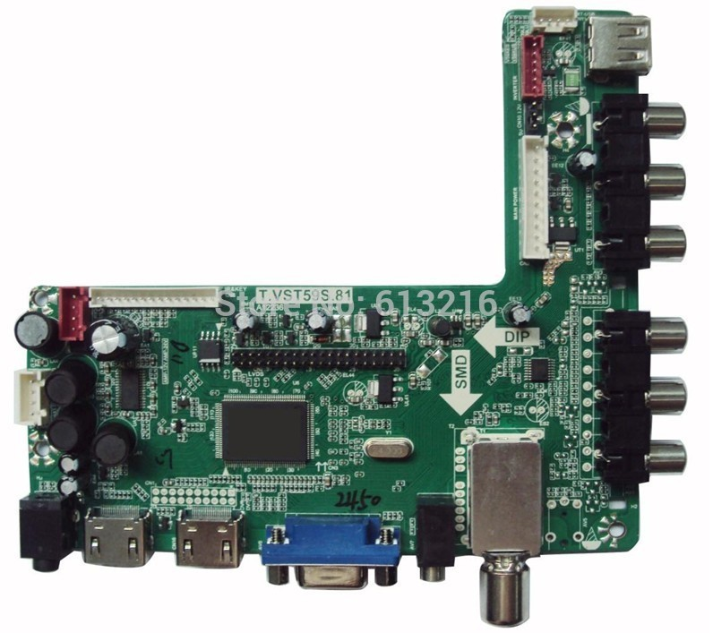 2 HDMI+AV+YPbPr/YCbCr+VGA +Audio USB+TV (PAL, SECAM) of LCD TV conrtoller board(China (Mainland))