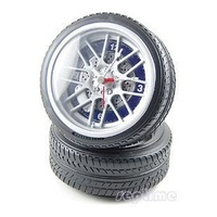 5pcs/lot DHL Free shipping New Special Car Wheel Desktop Clock fashion alarm clock