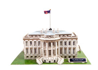 The White House,Cubic Fun 3D Jigsaw Puzzle paper model DIY puzzle Best Educational toys for Kids