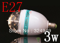 E27 LED Rotating Stage Lighting RGB Crystal Ball Effect Light For Disco Party 1pcs/lot Free Shipping