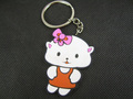 Small cat cartoon keychain . small cat pvc keychain . promotional gifts hot-selling !