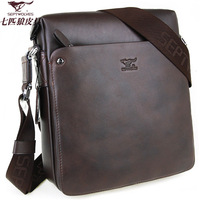 SEPTWOLVESmessenger bag leather bag casual commercial brief