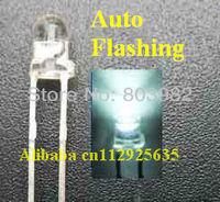3.0-3.5V White single blinking 3mm led 1.5KHz IC Automatic flashing led(CE&Rosh)
