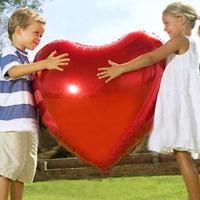 EMS Free Shipping  Wholesale High Quality 75 cm Large Heart Balloons Aluminum Foil Balloons Wedding Wedding Decoration 50Pcs/lot