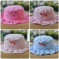 free shipping sale lowest price best quality  lovely baby  Lace children's hat  Girl topi  sunbonnet