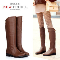 2012 winter stockings knee-length boots high-leg boots plus size boots