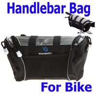 Free Shipping,Cycling Bike Bicycle Handlebar Front Bar Bag Basket Velcro Silver 2 Colors Wholesale