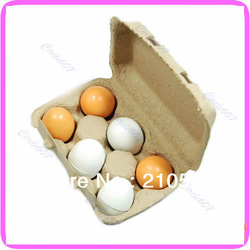 Hot Sell 6pcs Wooden Eggs Yolk Educational Interesting Kid Toy Kitchen Game Food Cooking Toys Free Shipping(China (Mainland))