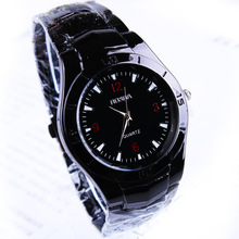 EVSHSB (76) The Lowest Price Fashion Jewelry Steel Alloy Black Surface Quartz Wrist Watch Men Brand New Free Shipping