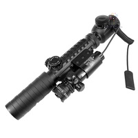 Лазер для охоты Super Power Tactical Strike Head Adjustable Red Laser Sight Scope With 2 Mounts +2 Switches 1PCS/LOT