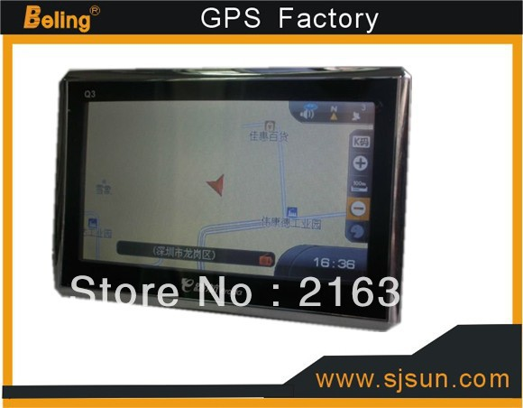 2013 new product MTK3351 4.3 inch laptop GPS navigation with fm,4.3 inch gps system for your nice car 128m+4g+isdb-t(China (Mainland))