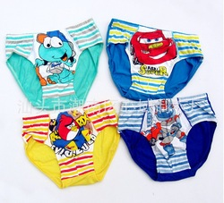children boys underwear briefs panties fit 1-9yrs baby kids cartoon underwear shorts clothing 12pcs/lot one size mix design(China (Mainland))