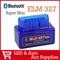 Free Shipping Super Mini ELM327 V1.5 Bluetooth Scanner OBDII OBD2 Car Diagnostic Tools Auto Scan Data OBD2-008