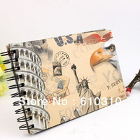 Free Shipping Wholesale Statue of Liberty DIY Photo Album Scrapbook Paper Craft for baby wedding picture photograph holder