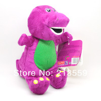 "Free Shipping Cute Barney the Dinosaur plush stuffed toy 7"" tall Retail"