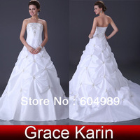 Grace Karin! 2013 Free Shipping Cheap Price 1pc Stock Luxury Ball Gown wedding Bridal Evening Prom Dress 6 Size CL2524