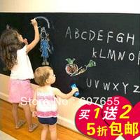 free shipping 40*120CM Removable Blackboard Sticker,Vinyl Chalkboard Wall Sticker, with Free Liquid Chalk Pens wall sticker