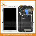 100% Original Galaxy Note 2 ii LCD For Samsung N7100 Display Touch Screen Digitizer Assembly With Frame White/Gray Free shipping