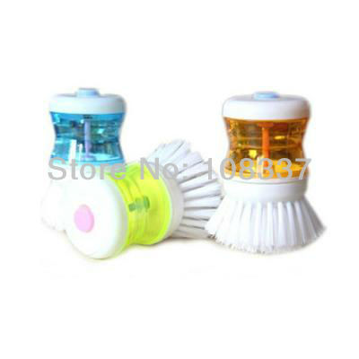 10pcs/lot dish washing brush bowl brush kitchen cleaning scourer free shipping(China (Mainland))