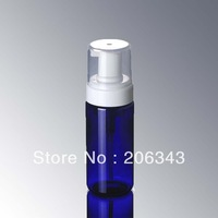 120ML blue  FOAMING BOTTLE,MOUSSE BOTTLE with white  press  pump