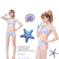 Ice cream basic bikini female swimwear small push up swimwear 2 piece set beach