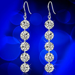 S925 sterling silver earrings fashion earring zircon earrings(China (Mainland))