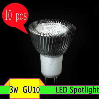 10PCS 3W GU10 AC85~265V white/warm white  LED Bulb Light Spot Light  LED Light Lamp ----------Limited Time Offer