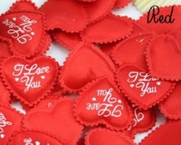Free Shipping 500pcs/lot Valentine Wedding supply Padded Heart Applique Craft Red beatiful love ornament gift ZF038
