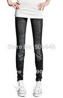 New Fashion Knitting K260 spring-autumn pants for women printing elastic thin faux jeans leggings wholesale retail FREE SHIPPING