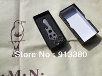 Custom make Ti titanium keychain necklace Beer Opener survival gear tool kit