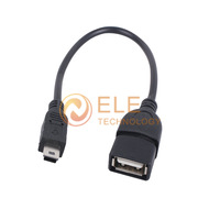 mini usb otg cable USB A Female to Mini USB B 5 Pin Male Adapter Converter