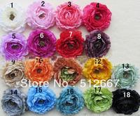 2013 newest  18 different colours Ruffle Ranunculus flowers New design! fashion baby flower! mix colors 100pcs/lot