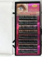 5 boxes 0.07 C curl 8/10/12mm Human hair false soft eyelashes eyelash extension Wholesale! Free shipping !
